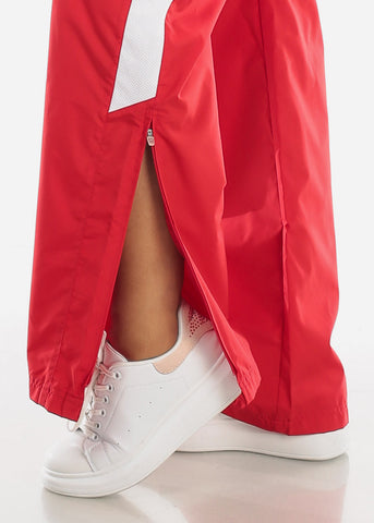 Red Drawstring Waist Athletic Pants LPO010RED