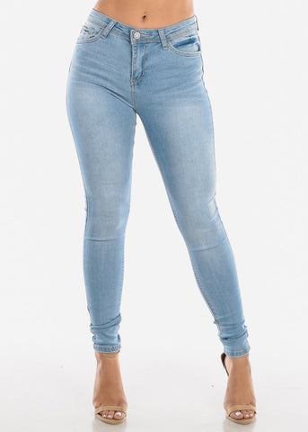 Light Wash High Rise Skinny Jeans
