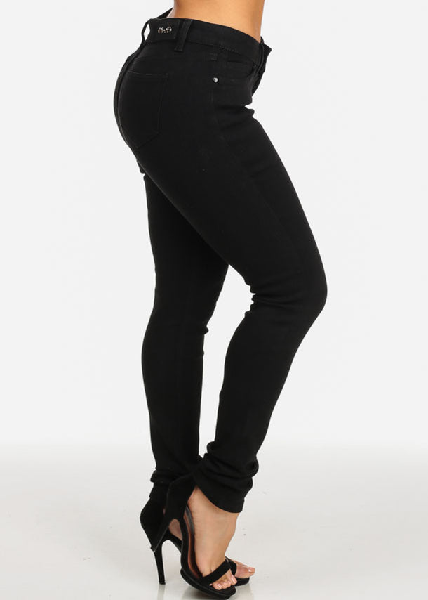 Black 5-Pocket Skinny Jeans