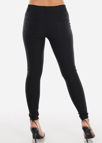 High Rise Skinny Black Tregging
