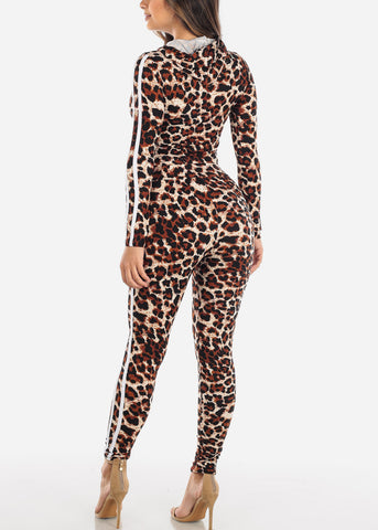 Image of Brown Animal Print Top & Pants (2 PCE SET)