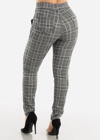 White Plaid Pants