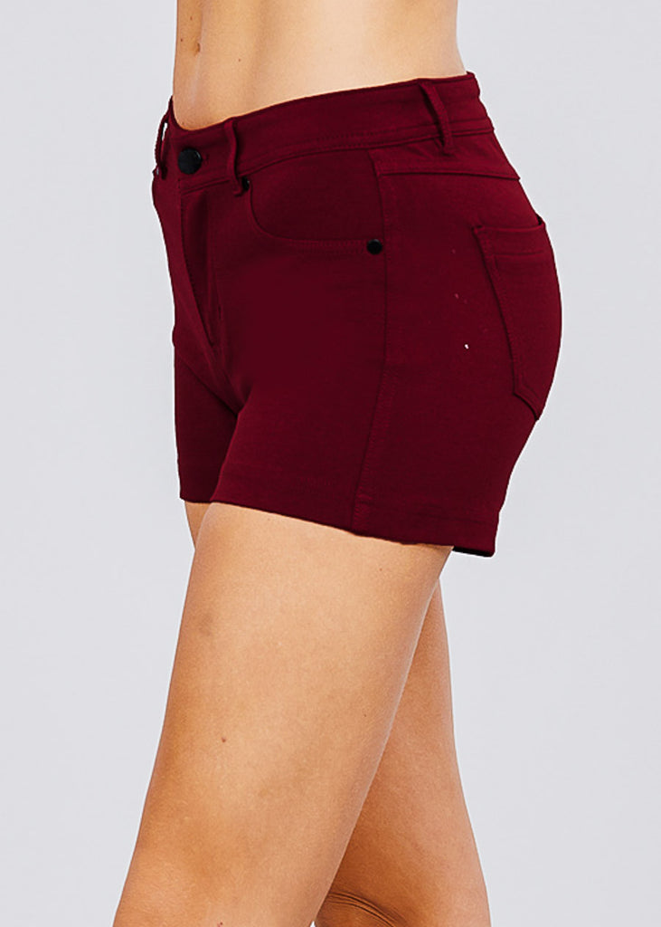 Brick Mid Rise Stretchy Shorts