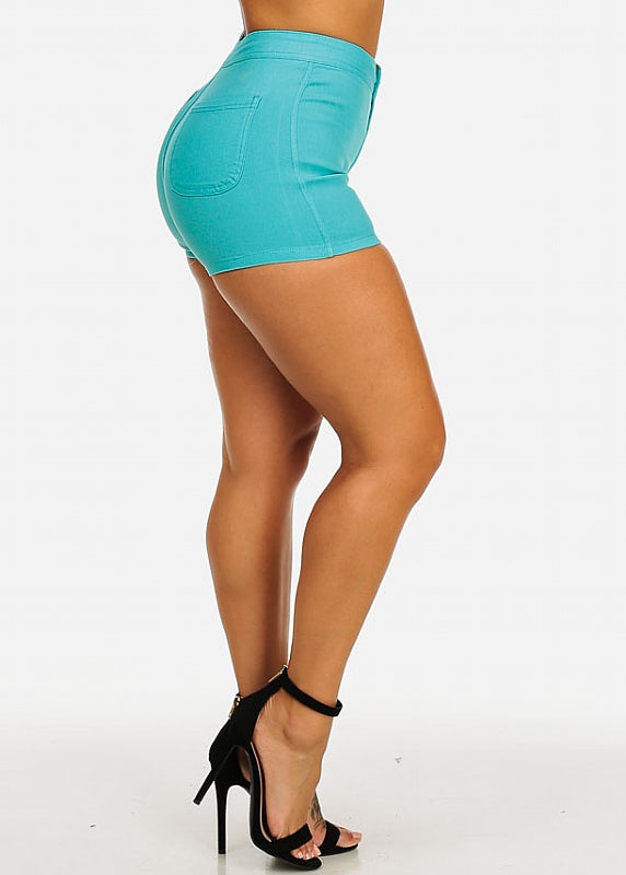 Teal Stretchy Summer Shorts