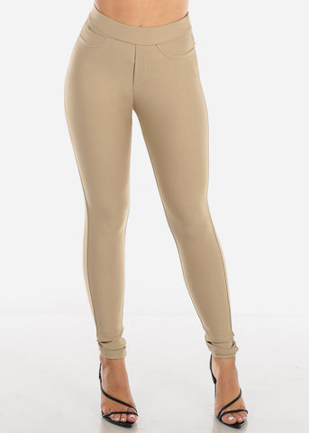 Image of High Rise Skinny Khaki Tregging
