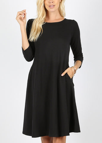 Cheap Classic A Line Black Dress