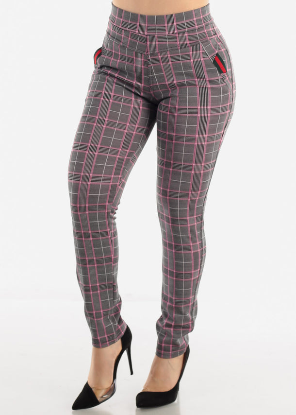 Mauve Plaid Pants