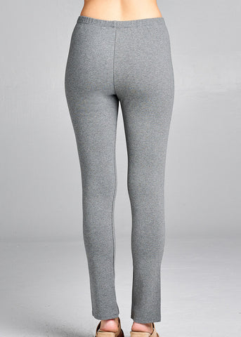 Image of Front Slit Hem Detail Grey Pants