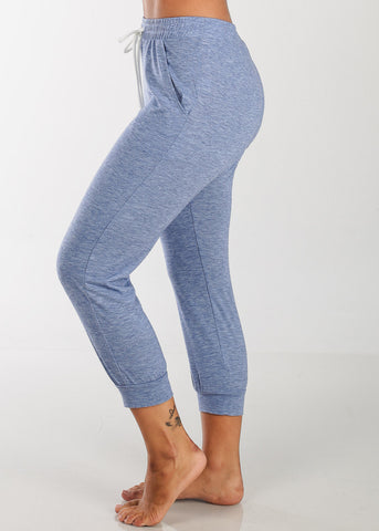 Cropped Blue Jogger Pants