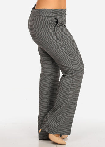 Plus Size Patterned Pants