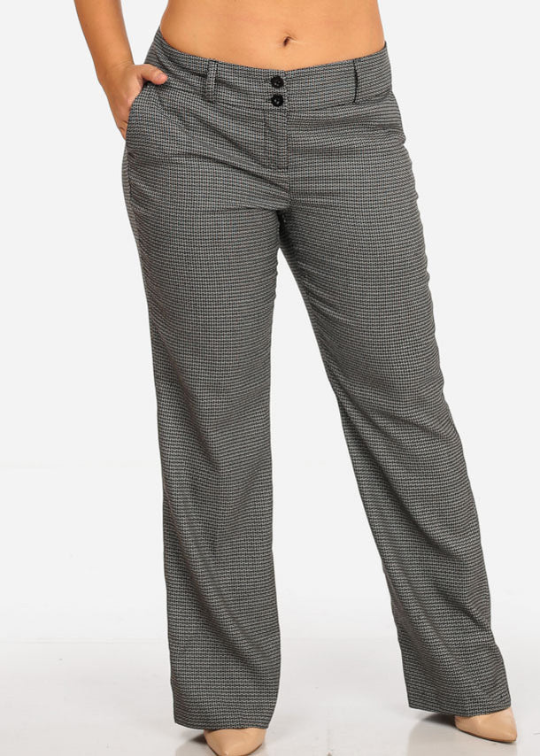 Cheap Plus Size Patterned Pants