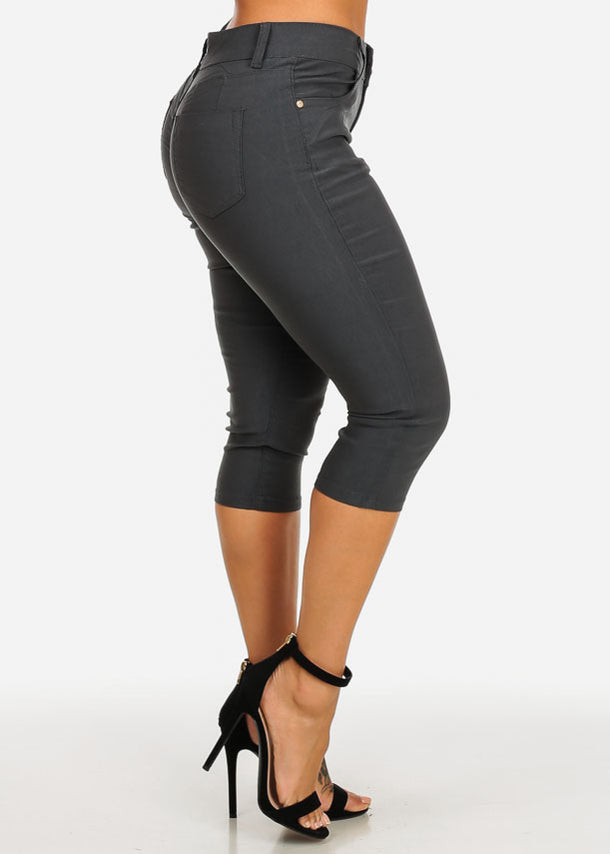 Butt Lifting Dark Grey Capris