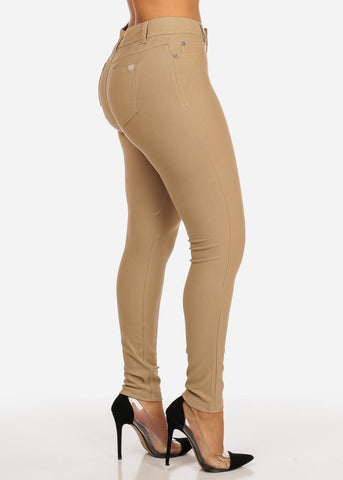 Image of Mid Waist Zip Up Pants