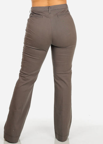 Image of Classic High Waist Grey Pants
