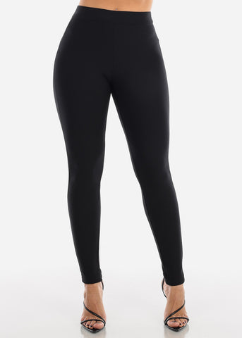 High Rise Black Trouser Legging