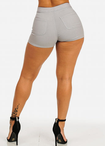 Grey Stretchy Summer Shorts
