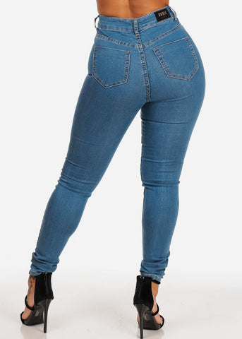 Image of Light High Waisted Skinny Jeans