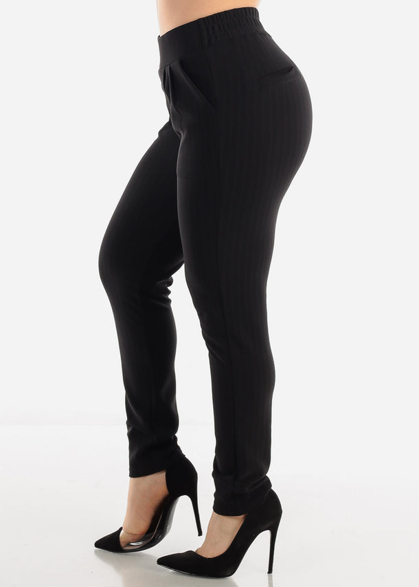 Black Stripe Dress Pants