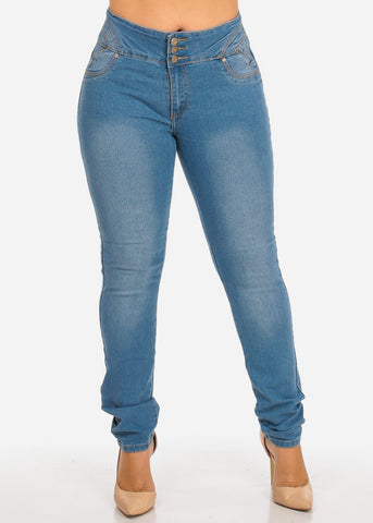 Image of Light Wash Butt Lifting Jeans