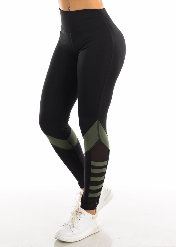 Activewear Black Sheer Leggings