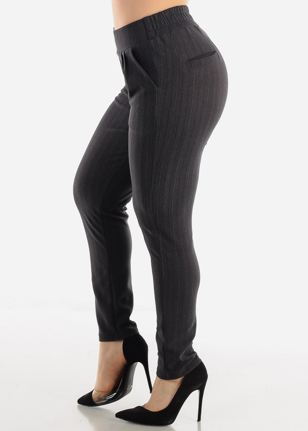 Charcoal Stripe Pants