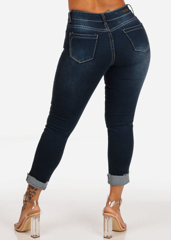Image of Dark Wash Ankle Skinny Jeans