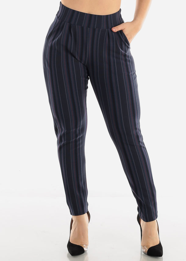 Navy Stripe Pants