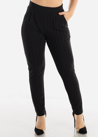Black Stripe Dressy Pants
