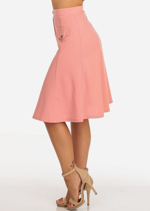 Fit & Flare Mauve Skirt