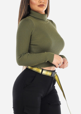 Image of Olive Turtleneck Sweater