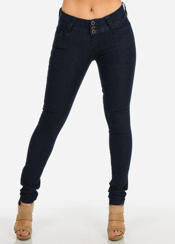 Image of Butt Lift Dark Skinny Jeans