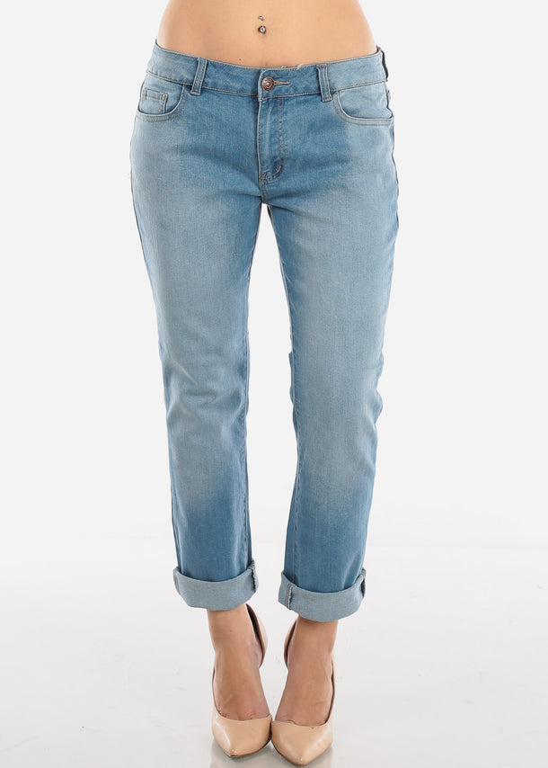 Boyfriend Low Rise Light Wash Jeans