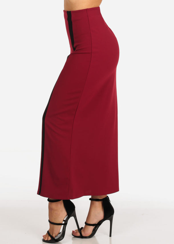 Red Dressy Maxi Skirt