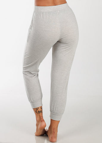 Cropped Grey Jogger Pants