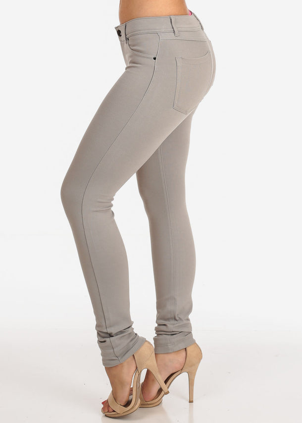 Stretchy Light Grey Skinny Pants