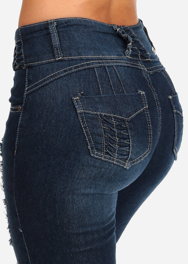 Ripped Butt Lifting Bermuda Shorts