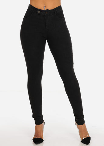 Sexy High Waisted Going Out Casual Super Stretchy Black Skinny Jegging Pants