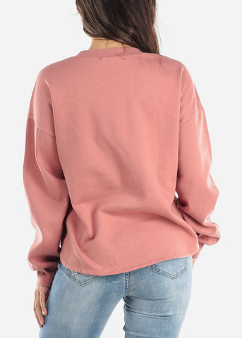 "Mauve Sweatshirt ""Don't Kill My Vibe"""