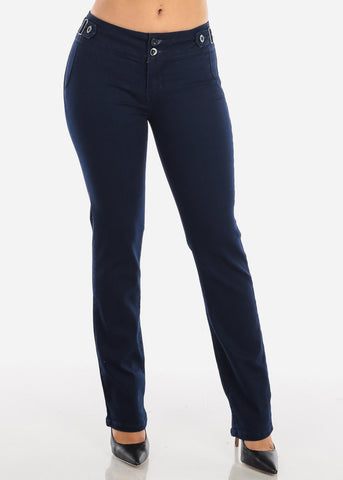 Image of Dark Navy Butt Lifting Bootcut Jeans