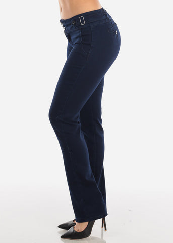 Dark Navy Butt Lifting Bootcut Jeans