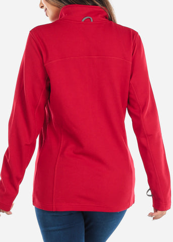 Image of Red Full Zip Jacket