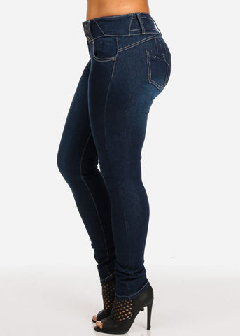 Image of Mid Rise Butt Lifting Jeans