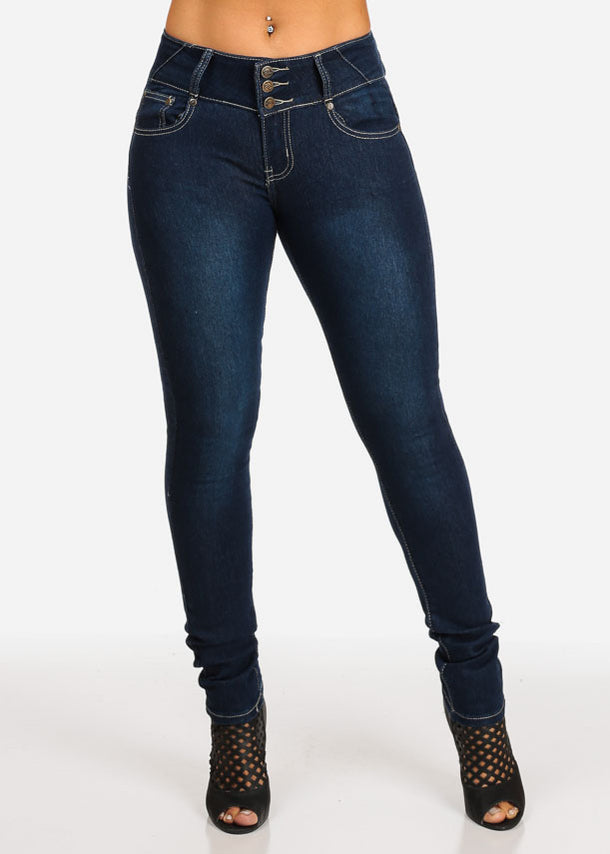 Mid Rise Butt Lifting Jeans