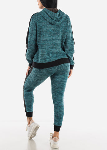 Dirty Bluegreen Activewear Set