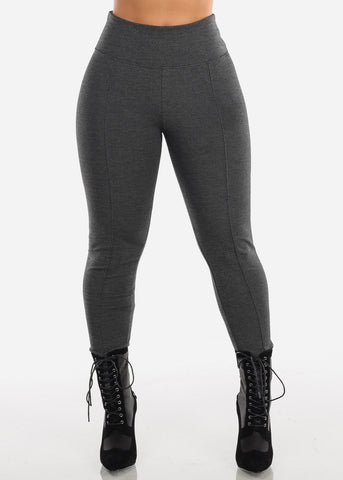 High Rise Grey Leggings