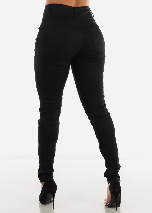 Levanta Cola Black Jeans