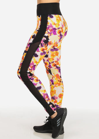 Multicolored Stretchy Pull On Leggings