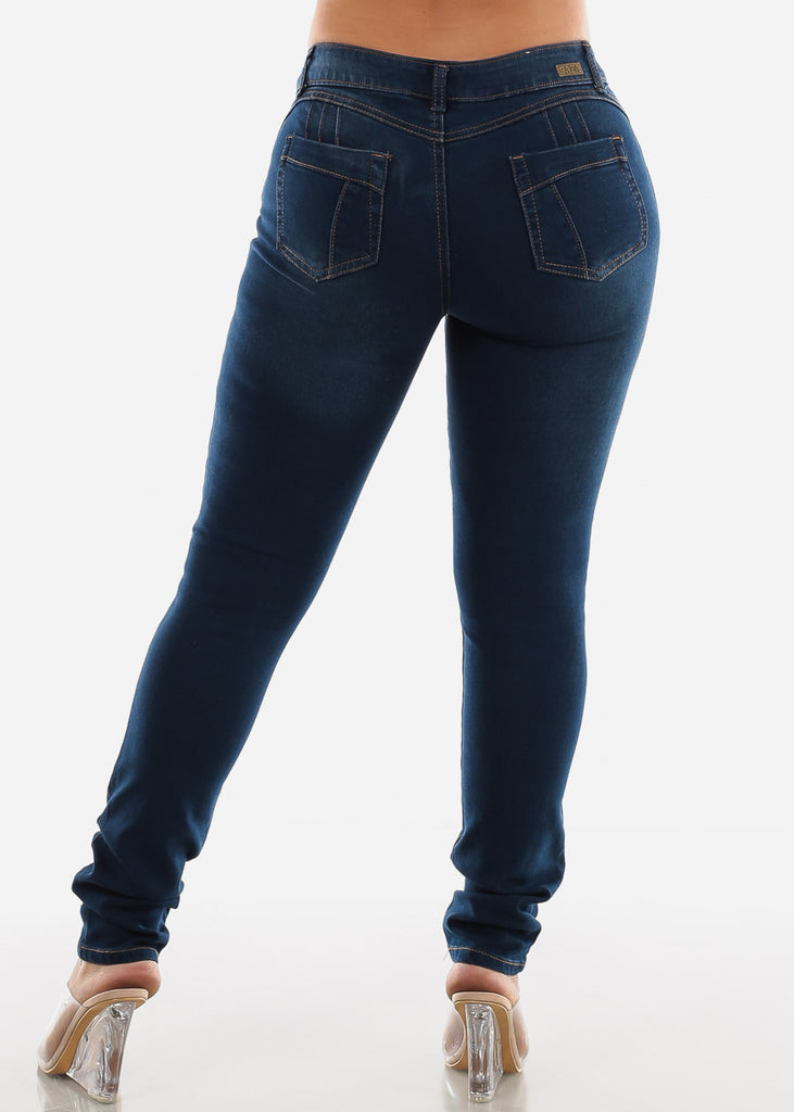 SIZES 13-15-17 Dark Wash Butt Lifting Skinny Jeans