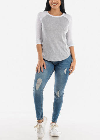 Image of Light Blue Ripped Jeans