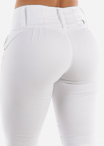 Levanta Cola White Jeans